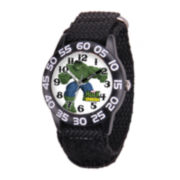 Marvel® Hulk Kids Time Teacher Black Nylon Strap Watch
