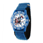 Marvel® Captain America Kids Time Teacher Blue Nylon Strap Watch