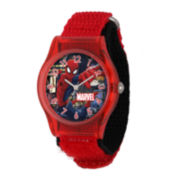 Marvel® Spider-Man® Kids Red Nylon Strap Watch
