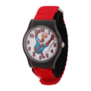 Marvel® Spider-Man® Kids Red and Black Nylon Strap Watch
