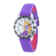 Disney Rapunzel Kids Time Teacher Purple Nylon Strap Watch