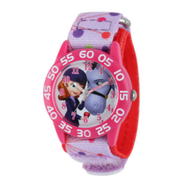 jcpenney.com | Disney Sofia Kids Time Teacher Print Nylon Strap Watch