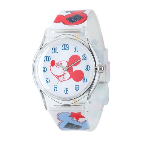 Disney Mickey Mouse Kids Print Nylon Strap Watch