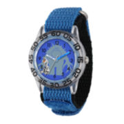 Disney Frozen Olaf and Marshmallow Kids Time Teacher Blue Nylon Strap Watch