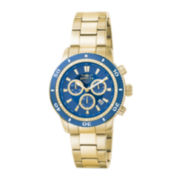 Invicta® Mens Gold-Tone Stainless Steel Chronograph Watch 1205