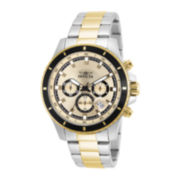 Invicta® Pro Diver Mens Two-Tone Stainless Steel Chronograph Watch 12456