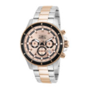 Invicta® Pro Diver Mens Two-Tone Stainless Steel Chronograph Watch 12457