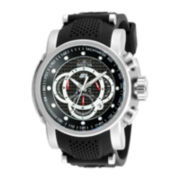 Invicta® S1 Rally Mens Black Silicone Chronograph Sport Watch 19317