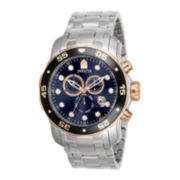 Invicta® Pro Diver Mens Stainless Steel Chronograph Scuba Sport Watch 80038
