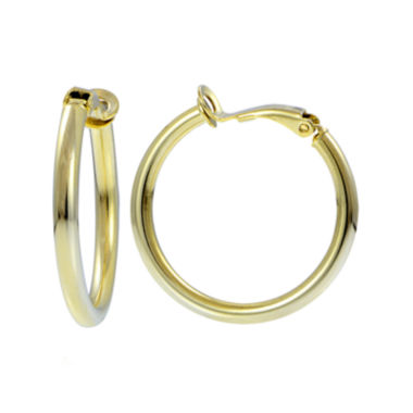 jcpenney.com | 14K Yellow Gold Over Sterling Silver 30mm Hoop Clip-On Earrings