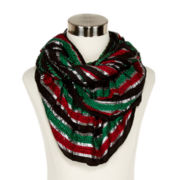 Holiday Metallic Ruffled Boa Scarf