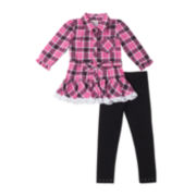 Little Lass Tunic and Leggings Set - Baby Girls 3m-9m