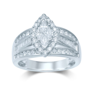 jcpenney.com | 1¼ CT. T.W. Trillion-Cut Diamond 14K White Gold Ring
