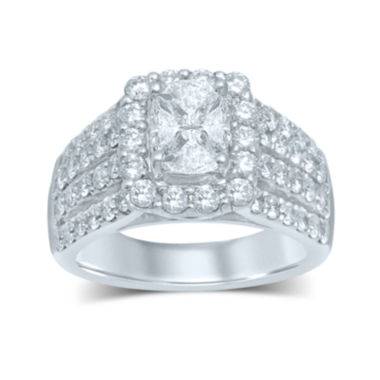 jcpenney.com | 3 CT. T.W. Fancy-Cut Diamond 14K White Gold Ring