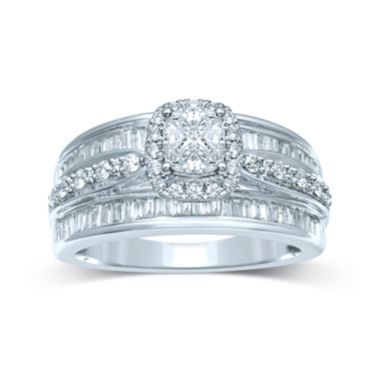 jcpenney.com | 1 CT. T.W. Fancy-Cut Diamond 14K White Gold Ring