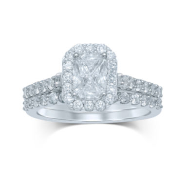 jcpenney.com | 1½ CT. T.W. Fancy-Cut Diamond 14K White Gold Bridal Ring Set