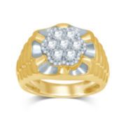 Mens 1 CT. T.W. Diamond 10K Yellow Gold Ring