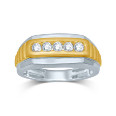 jcpenney.com | Mens 1/2 CT. T.W. Diamond 10K Two-Tone Gold Ring