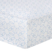 Trend Lab® Blue Circles Fitted Flannel Crib Sheet