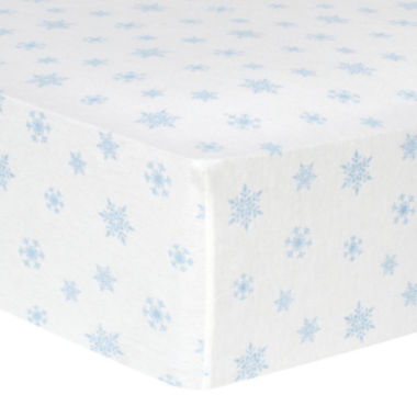 jcpenney.com | Trend Lab® Blue Snowflake-Print Fitted Flannel Crib Sheet