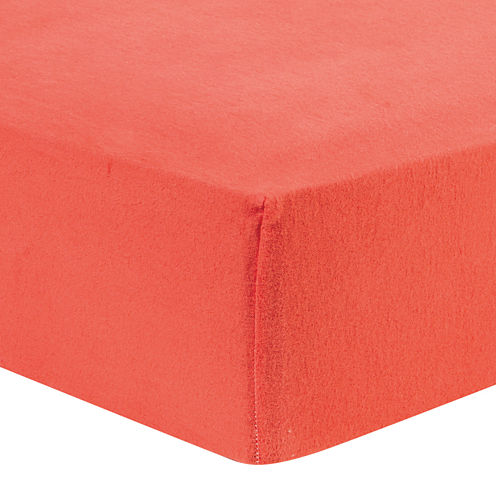 Trend Lab® Coral Fitted Flannel Crib Sheet