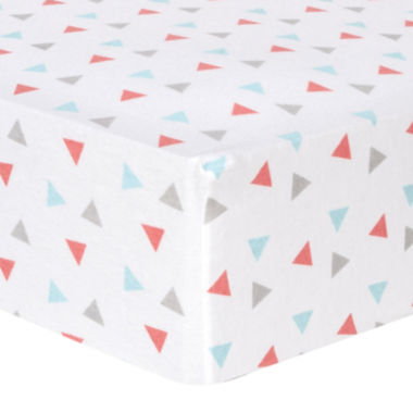 jcpenney.com | Trend Lab® Coral Triangle-Print Fitted Flannel Crib Sheet