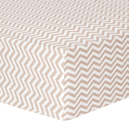 Trend Lab® Doe Chevron Fitted Flannel Crib Sheet