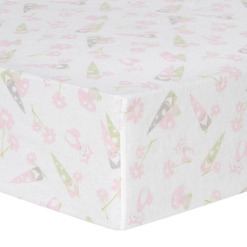 Trend Lab® Garden Gnome Fitted Flannel Crib Sheet