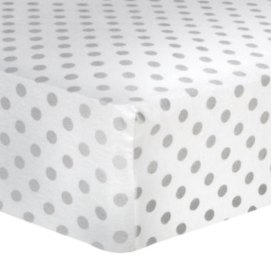 jcpenney.com | Trend Lab® Gray Polka Dot Fitted Flannel Crib Sheet