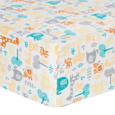 jcpenney.com | Trend Lab® Lullaby Zoo Fitted Flannel Crib Sheet