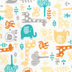 Trend Lab® Lullaby Zoo Fitted Flannel Crib Sheet