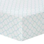 Trend Lab® Mint Quatrefoil Fitted Flannel Crib Sheet