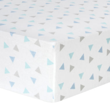 jcpenney.com | Trend Lab® Mint Triangle-Print Fitted Flannel Crib Sheet
