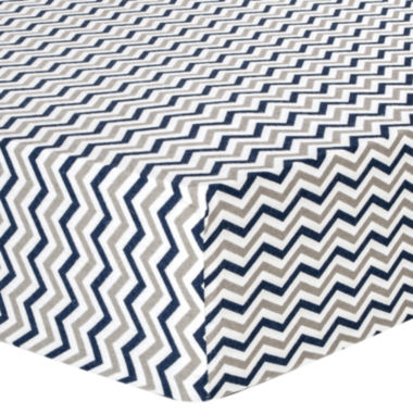 jcpenney.com | Trend Lab® Navy & Gray Chevron Fitted Flannel Crib Sheet