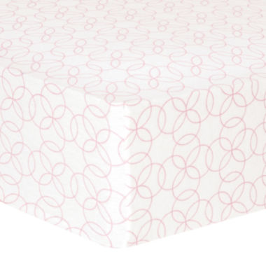 jcpenney.com | Trend Lab® Pink Circles Fitted Flannel Crib Sheet