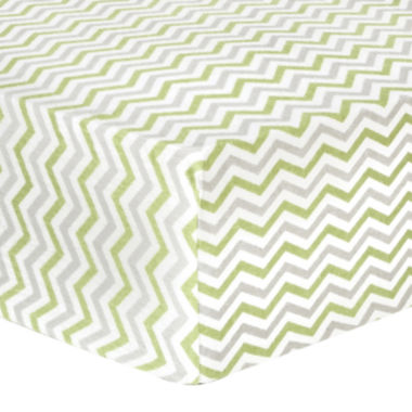 jcpenney.com | Trend Lab® Sage & Gray Chevron Fitted Flannel Crib Sheet