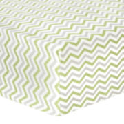 Trend Lab® Sage & Gray Chevron Fitted Flannel Crib Sheet