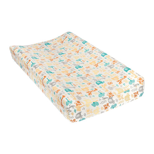 Trend Lab® Lullaby Zoo Changing Pad Cover - Gray