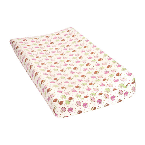 Trend Lab® Owl-Print Flannel Changing Pad Cover