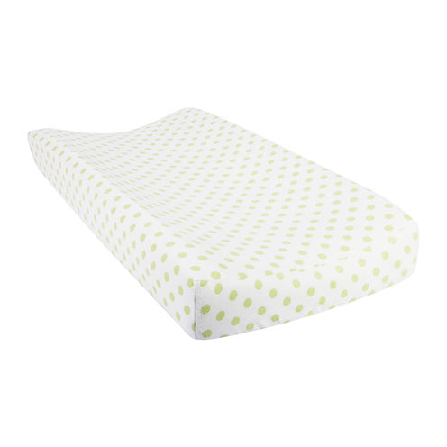 Trend Lab® Polka Dot Flannel Changing Pad Cover - Sage