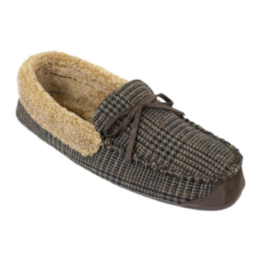 jcpenney.com | Dockers® Premiere Mens Plaid Memory Foam Moccasin Slippers