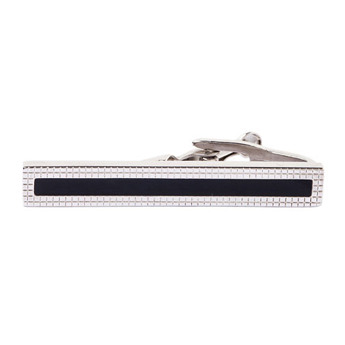 Collection by Michael Strahan Grid-Patterned Tie Bar