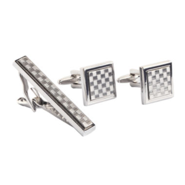 jcpenney.com | Collection by Michael Strahan Patterned Cuff Links & Tie Bar Set