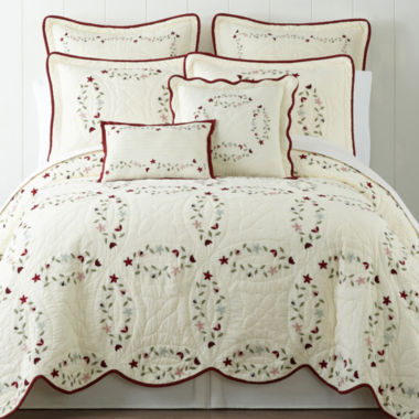 jcpenney.com | Home Expressions Hope Chest Embroidered Quilt & Accessories
