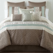 Home Expressions™ Lara 10-pc Comforter Set & Accessories