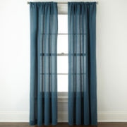 JCPenney Home™ Cotton Classics Solid Rod-Pocket Curtain Panel