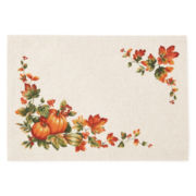 Bardwil Set of 4 Harvest Pumpkin Border Placemats