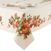Bardwil Harvest Pumpkin Border Tablecloth