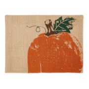 Harvest Pumpkin Set of 4 Jute Placemats