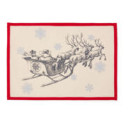 Canvas Sleigh Set of 4 Placemats